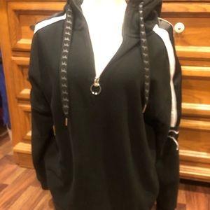 VS PINK quarter zip sherpa head hoodie
